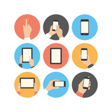 Mobile Communication Flat Icons Set Art by  bloomua