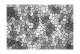 Abstract Texture of a Gray Mosaic Poster by  malven