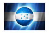 Soccer Football Ball with Honduras Flag Prints by  daboost