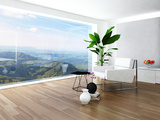 Beautiful Light Living Room Interior with Nice Furniture Prints by  PlusONE