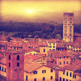 Lucca at Sunset, Old Town in Tuscany Photo by  Elenamiv