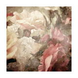 Art Floral Vintage Sepia Blurred Background with White and Pink Roses Posters by Irina QQQ