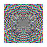 Psychedelic Zig Zag Rings Prints by  Objowl