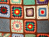 Colorful Crochet Quilt Photographic Print by Chad C.