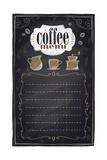 Vintage Chalk Coffee Menu Kunstdrucke von  Selenka
