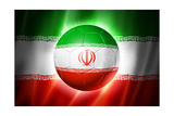 Soccer Football Ball with Iran Flag Posters by  daboost