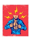 Man and Energy Print by  serazetdinov