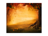 Autumn Design - Forest in Fall Affiches par  mythja