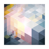 Abstract Geometry Blue Grunge Background Posters by  art_of_sun