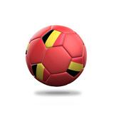 Belgium Soccer Ball Prints by  pling