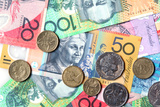 Full-Frame of Australian Notes and Coins Photographic Print by Robyn Mackenzie