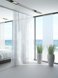 A White Bedroom Interior Posters by  PlusONE