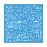 Business and Website Development Doodles Elements Prints by  bloomua