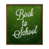 Back to School, Chalk Blackboard Prints by Ozerina Anna