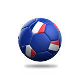 France Soccer Ball Premium Giclee Print by  pling