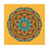 Round Decorative Design Element Print by  epic44