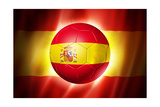 Soccer Football Ball with Spain Flag Plakater av  daboost