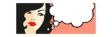 Banner with Female Face and Thinking Bubble Affiches par Alena Kozlova