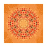 Ornamental Round Floral Lace Pattern Posters by  shumo4ka