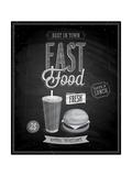 Vintage Fast Food Poster Chalkboard Prints by  avean