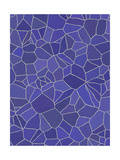 Blue and Purple Rustic Mosaic Tile Pattern Prints by  sfinks