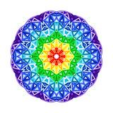 Rainbow Kaleidoscope Vibrant Circle Prints by  art_of_sun