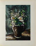Fleurs au Pot de Gres, 1955 Collectable Print by Maurice De Vlaminck