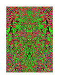 A Red and Green Kaleidoscopic Tapestry Prints by  Ray2012
