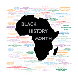 Black History Month Collage Poster von  BasheeraDesigns