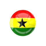 Soccer Ball with Ghana Flag Art by gualtiero boffi