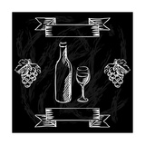 Restaurant or Bar Wine List on Chalkboard Background Prints by  incomible