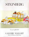 Taxi Samlertryk af Saul Steinberg