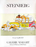 Taxi Collectable Print by Saul Steinberg