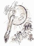 Plafond de l'Opéra: Daphnis et Chloe Collectable Print by Marc Chagall