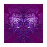 Fabulous Fractal Pattern in Purple Prints by  velirina