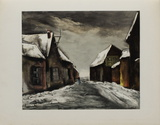 Allainville Sous la Neige, 1946 Collectable Print by Maurice De Vlaminck