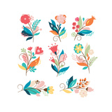 Floral Set Posters by  lenlis