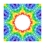 Rainbow Kaleidoscope Colorful Background Posters by  art_of_sun