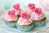 Vintage Cupcakes Photographic Print by Ruth Black