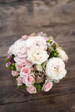 Wedding Bouquet of Peonies Prints by  Paul Rich Studio