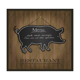 Blackboard Pig Restaurant Menu Card Art by  Mondih
