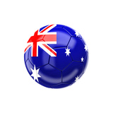 Soccer Ball with Australia Flag Prints by gualtiero boffi