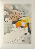 Confetti Collectable Print by Henri de Toulouse-Lautrec