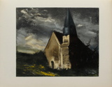 L'Eglise de Saint Lubin, 1934 Collectable Print by Maurice De Vlaminck