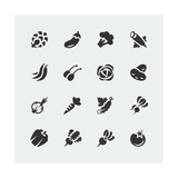 Vegetables Mini Icons Set Art by  GreyJ