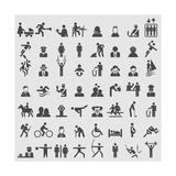 People Icons Premium Giclee Print by  ekler