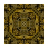 Art Nouveau Colorful Ornamental Vintage Pattern in Gold and Green Colors Poster by Irina QQQ