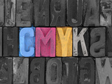 CMYK Made from Old Letterpress Blocks Posters by  sqback