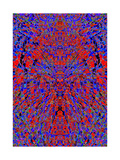 A Red and Blue Kaleidoscopic Tapestry Posters by  Ray2012