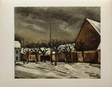 Les Tilleuls Sous la Neige, 1952 Collectable Print by Maurice De Vlaminck
